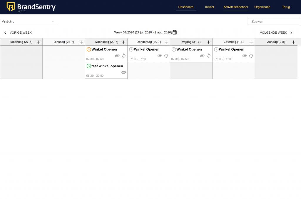 Het dashboard van BrandSentry